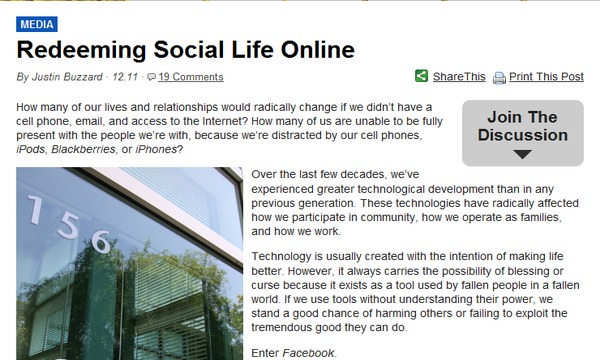 redeeming social life online 600x360 | marketplace christianity