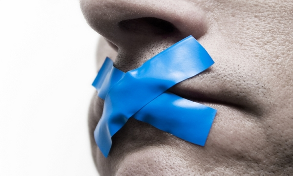man with blue duct tape over mouth 600x360 | marketplace christianity